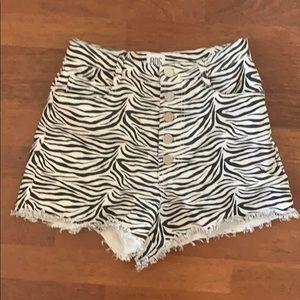 Urban Outfitters zebra high waist shorts 27